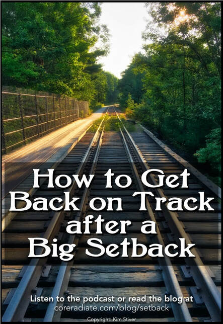 How to get back on track spiritually after a big setback
